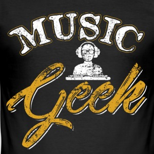 Musik Geek - Männer Slim Fit T-Shirt
