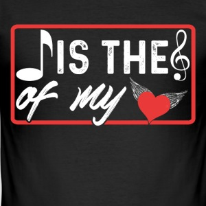 Note is The Music Of My Heart - Men's Slim Fit T-Shirt