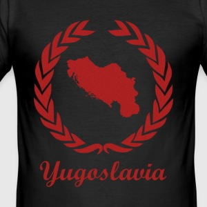 Connect ExYu Yugoslavia Red Edition - Männer Slim Fit T-Shirt