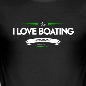boating_logo_3 - Tee shirt près du corps Homme