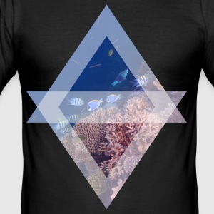 Surgeonfish on the reef - Men's Slim Fit T-Shirt