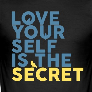 The Secret Is Love Yourself - Obcisła koszulka męska