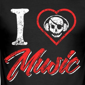 I Love Music - Men's Slim Fit T-Shirt