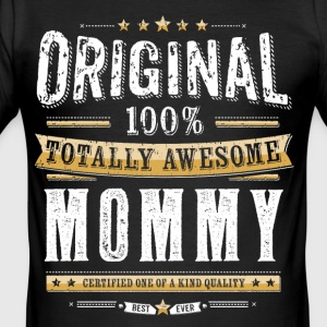 Original 100% Awesome Mommy - Men's Slim Fit T-Shirt