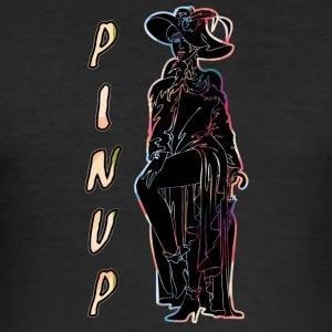 CLASSIC PINUP WOMAN BLACK - Herre Slim Fit T-Shirt