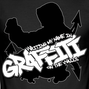 Witing My Name in Graffiti on The Walls T-shirt - Herre Slim Fit T-Shirt