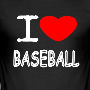 I LOVE BASEBALL - Herre Slim Fit T-Shirt