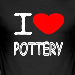 I LOVE POTTERY - Herre Slim Fit T-Shirt