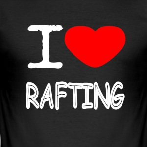 I LOVE RAFTING - Slim Fit T-skjorte for menn