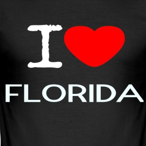 I LOVE FLORIDA - Men's Slim Fit T-Shirt