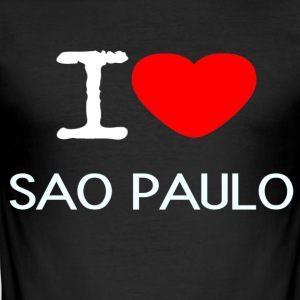 I LOVE SAO PAULO - Männer Slim Fit T-Shirt