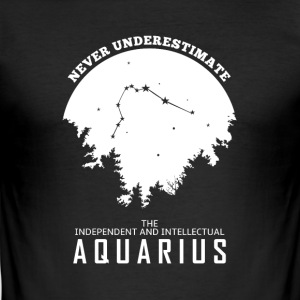 Aquarius Zodiac Horoscope - Slim Fit T-shirt herr