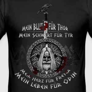 The Age of Odin! - Slim Fit T-skjorte for menn