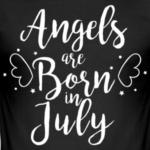 Angels are born in July - Men's Slim Fit T-Shirt