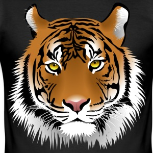 Tiger head with whiskers majestically - Men's Slim Fit T-Shirt