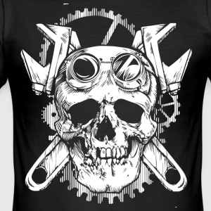 World Of Skulls! - Herre Slim Fit T-Shirt