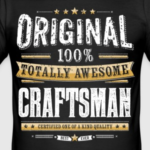 Original 100% Awesome Craftsman - Men's Slim Fit T-Shirt