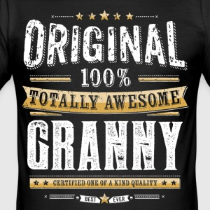 Original 100% Awesome Granny - Slim Fit T-skjorte for menn