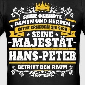 Hans Majestæt Hans-Peter - Herre Slim Fit T-Shirt