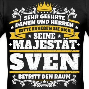 His Majesty Sven - Men's Slim Fit T-Shirt