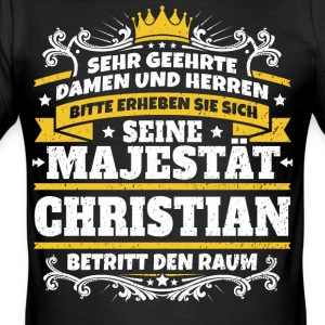 His Majesty Christian - Men's Slim Fit T-Shirt