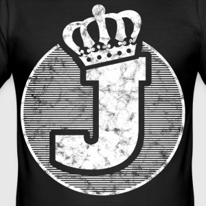 Stylish letter J with crown - Men's Slim Fit T-Shirt