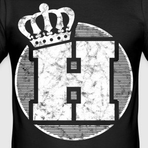 Stylish letter H with crown - Men's Slim Fit T-Shirt