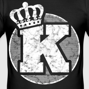 Stylish letter K with crown - Men's Slim Fit T-Shirt
