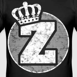 Stylish letter Z with crown - Men's Slim Fit T-Shirt