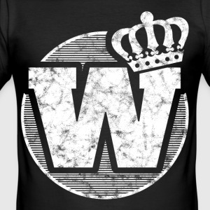 Stylish letter W with crown - Men's Slim Fit T-Shirt