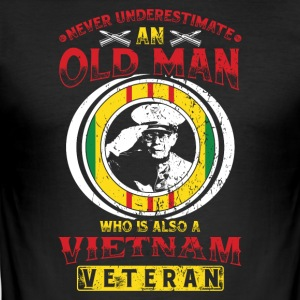 Vietnam veteran! Veterans! US Air Force! USA! - Slim Fit T-shirt herr