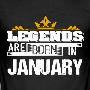 Legends Born In JANUARY - Men's Slim Fit T-Shirt