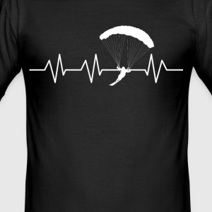 Heartbeat Snowkiting - Men's Slim Fit T-Shirt
