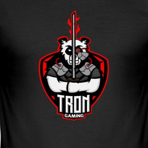 Tron-Gaming-Logo-Transparent - Männer Slim Fit T-Shirt