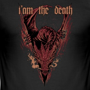Smaug drage - Slim Fit T-skjorte for menn