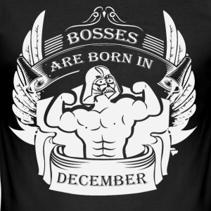 Bosses föddes i december - Slim Fit T-shirt herr