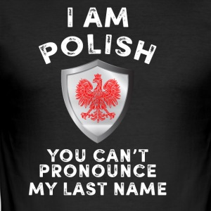 I am Polish - Men's Slim Fit T-Shirt