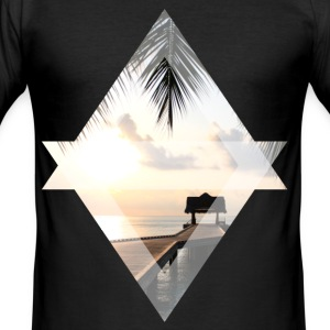 Jetty in paradise - Men's Slim Fit T-Shirt