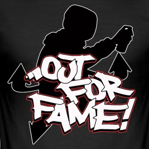 Out For Fame Old School Graffiti T-Shirt - Herre Slim Fit T-Shirt