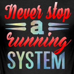 Aldri Stop Running - Slim Fit T-skjorte for menn