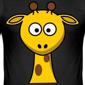 Sweet Giraffe with long neck - Men's Slim Fit T-Shirt