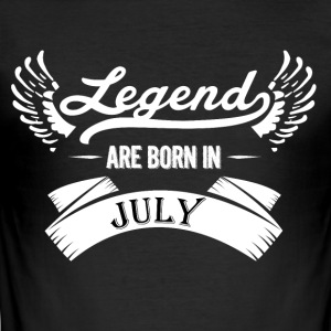 Legends juli födelse - Slim Fit T-shirt herr