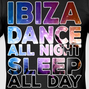 IBIZA - Dance all night sleep all day - Men's Slim Fit T-Shirt