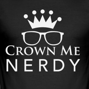 Kröne me nerdy - Men's Slim Fit T-Shirt