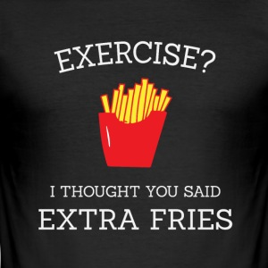 Extra fries white - Men's Slim Fit T-Shirt