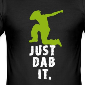 dab homme vert tamponnant touché Football cool fun - Tee shirt près du corps Homme