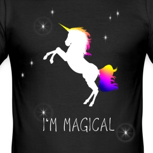 unicorn unicorn magic magical fairy princess wish - Men's Slim Fit T-Shirt