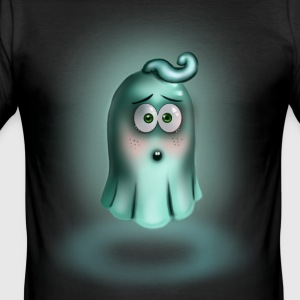 Lite Turquoise Ghost - Slim Fit T-skjorte for menn