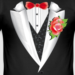 Rose Tuxedo - Herre Slim Fit T-Shirt