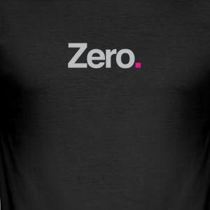 Zero. - Herre Slim Fit T-Shirt